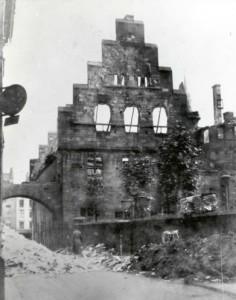 Das zerstörte Alte Rathaus, 1945 Dortmund